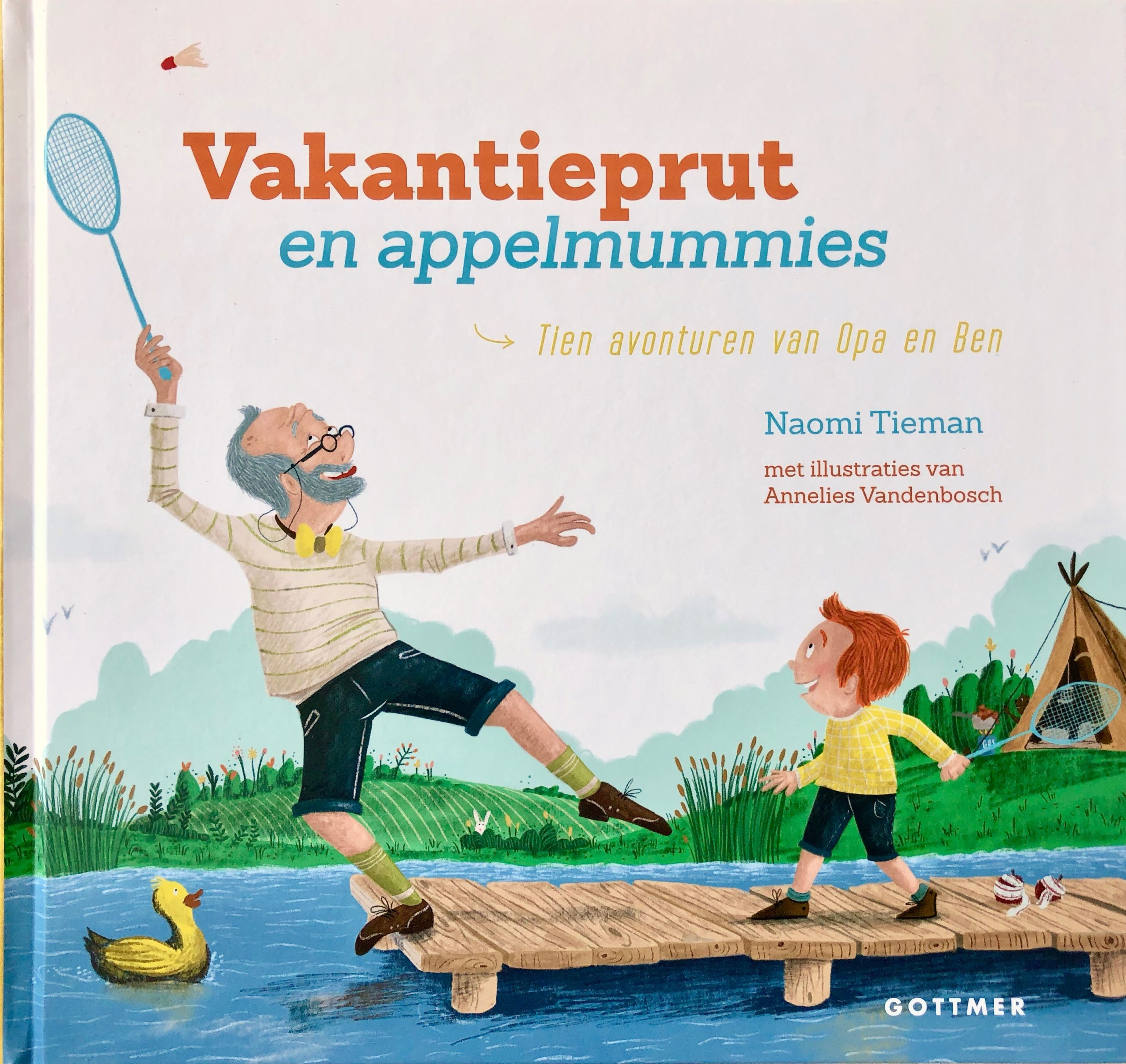 Boek cover van 'Vakantieprut en Appelmummies' geschreven door Naomi Tieman