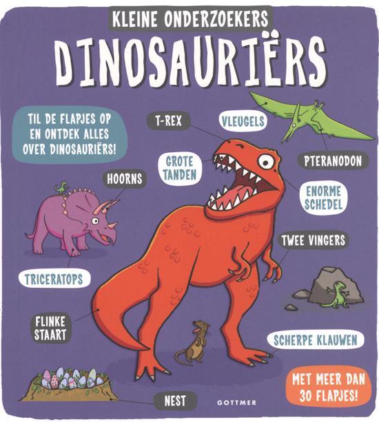 Boek cover van 'Dinosauriërs' vertaald door Naomi Tieman