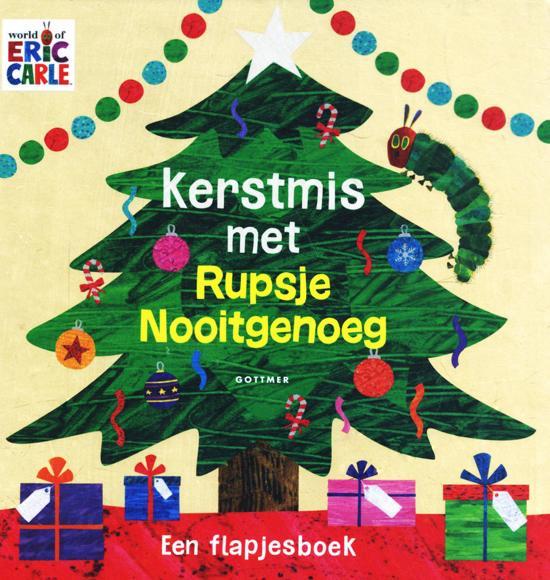 Boek cover van 'Kerstmis met Rupsje Nooitgenoeg' vertaald door Naomi Tieman
