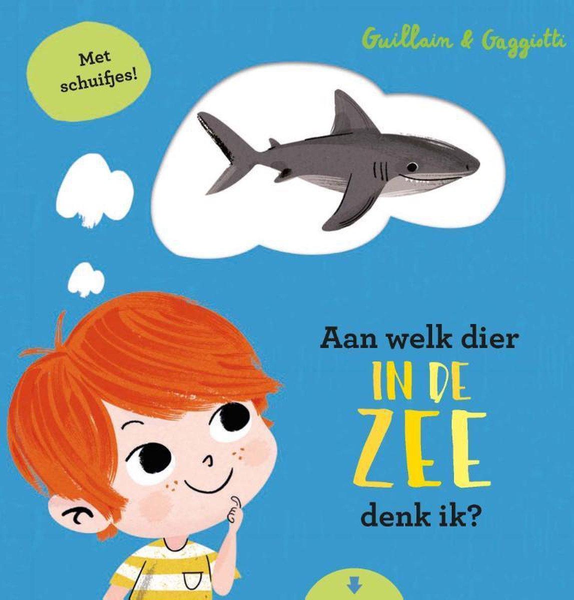 Boek cover van 'Aan welk dier in de zee denk ik?' vertaald door Naomi Tieman